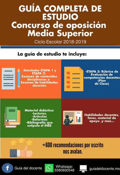 Concurso de oposición Media superior 2018