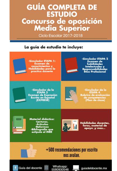 Concurso de oposición Media superior 2017