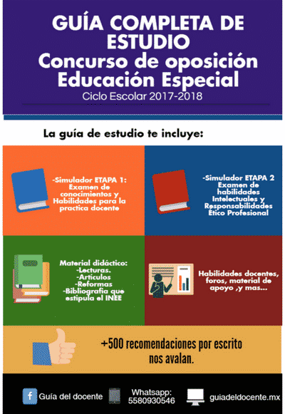 Concurso oposición Educacion Especial 2017
