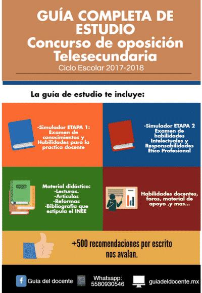 Concurso oposición Telesecundaria 2017