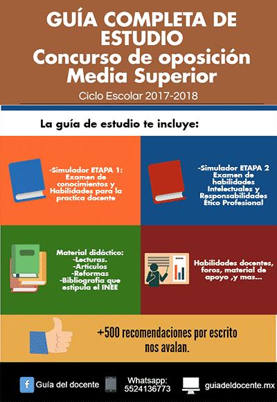 Concurso oposición Media superior 2017