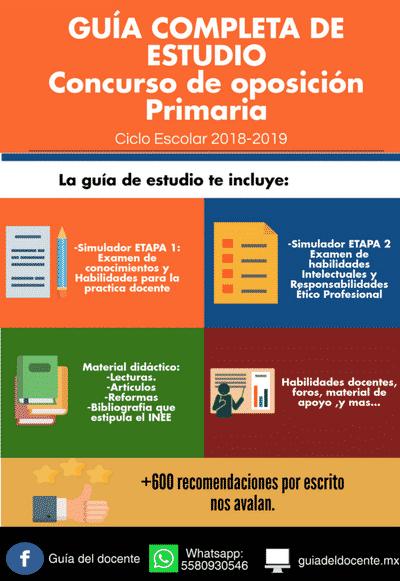 Examen de oposicion primaria 2018 gu a del docente for Examen para plazas docentes 2017