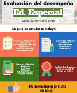 Evaluación de desempeño Educación Especial