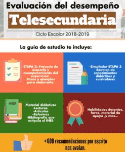 Evaluación del desempeño Telesecundaria 2018
