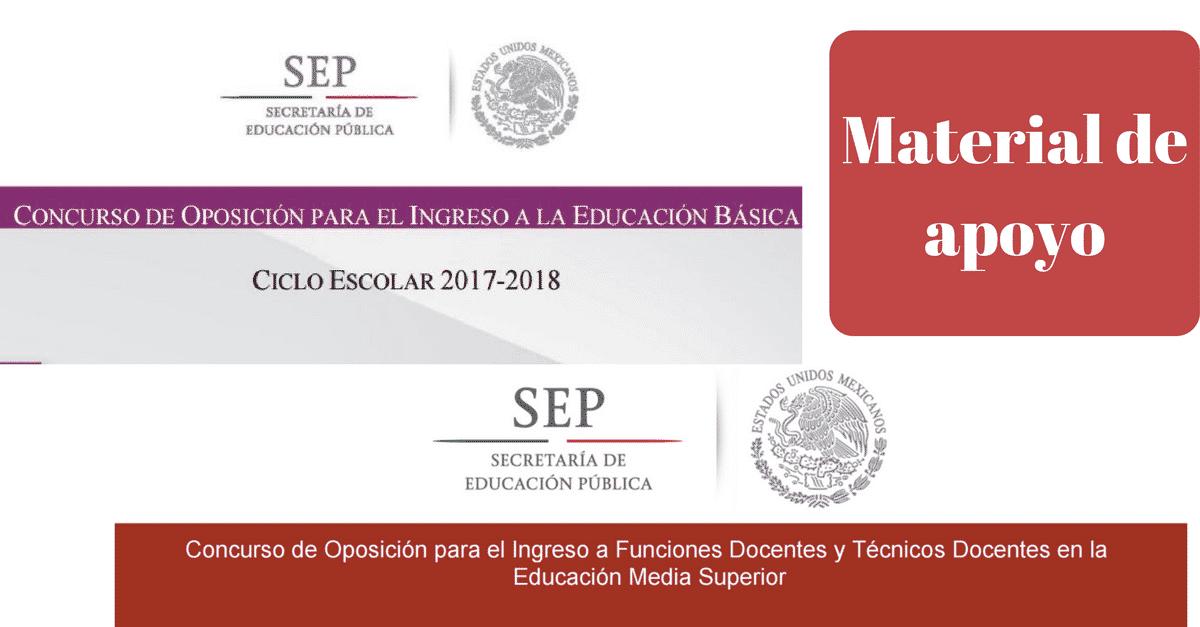 Material de apoyo para el concurso de oposici n educaci n for Examen para plazas docentes 2017