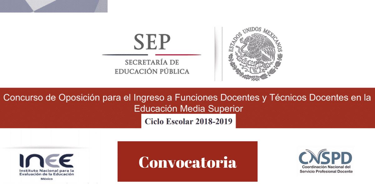 Convocatoria y pre registro para el concurso de oposici n for Convocatoria concurso de docentes 2016