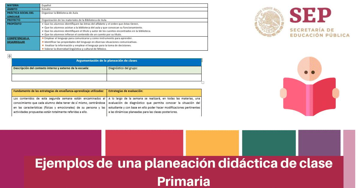 Ejemplos de un plan de clases en Educación Básica nivel Primaria
