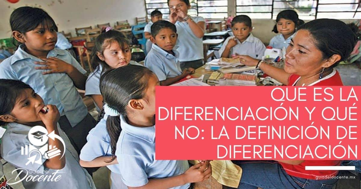 Qué es la diferenciación y qué no la definición de diferenciación